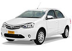 AC Toyota Etios, up to 04 travellers maximum