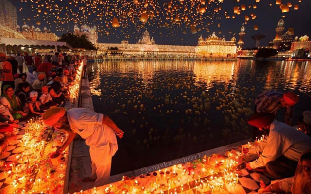 Diwali celebration in Amristar Golden Temple