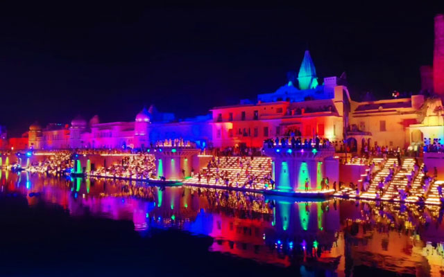 Diwali celebration in Ayodhya