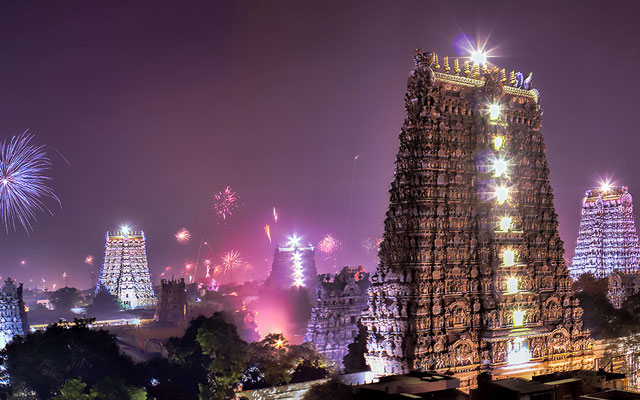 Diwali celebration in Madurai Tamilnadu