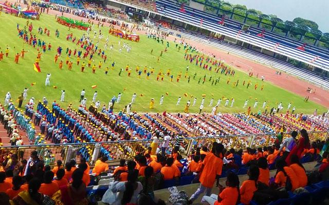 Kannada rajyotsava dance in kanteerva stadium