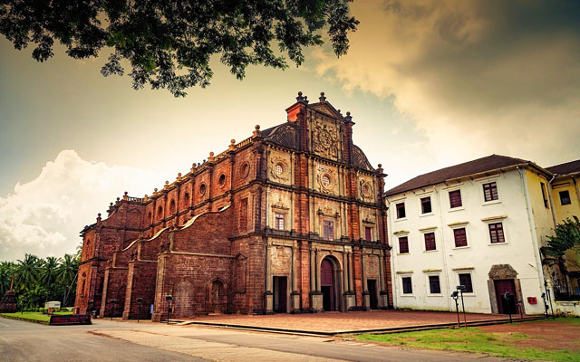Basilica of Bom Jesus Church in Goa