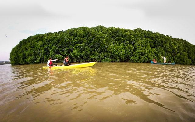 Ithikkara river trail in Kollam