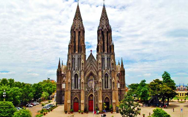 St. Philomenas cathedral church in Karnataka