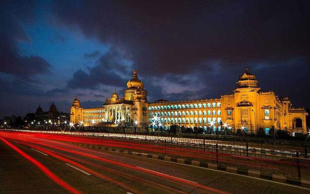 Straight View of Vidhana Soudha in Bangalore