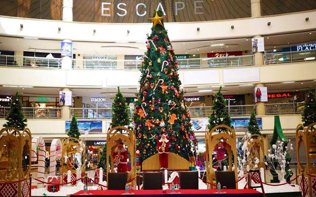 Christmas and New Year decoration and celebration in Chennai shopping malls