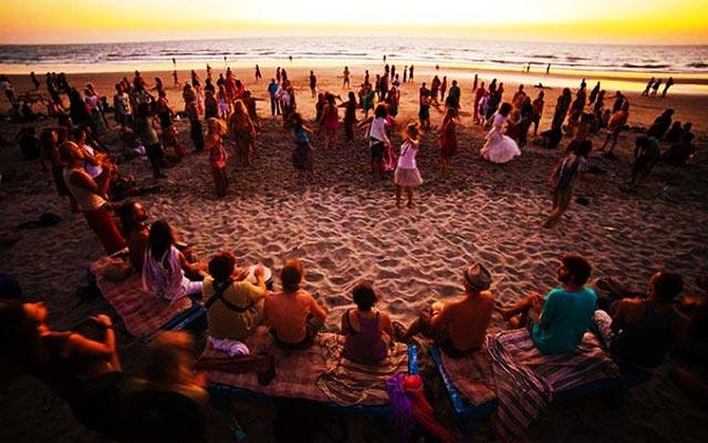 New Year Celebration in Gokarna Beach, Karnataka