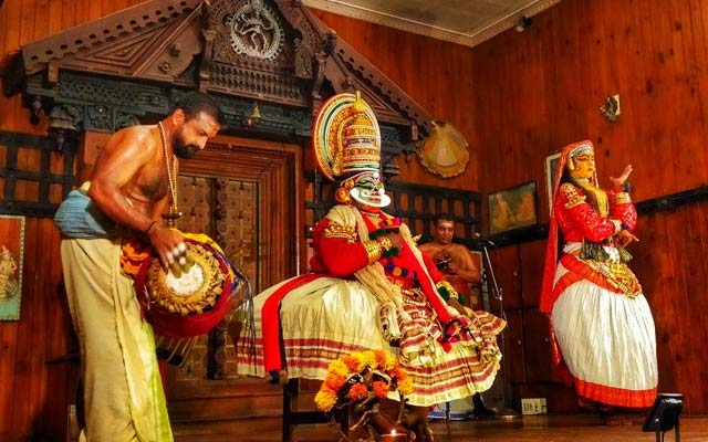 Kathakali performance in Kerala Kathakali centre, Fort Kochi