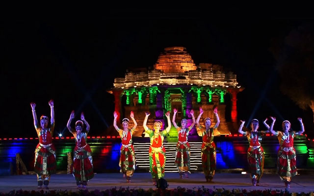 Pattadakal Dance festival backdrop
