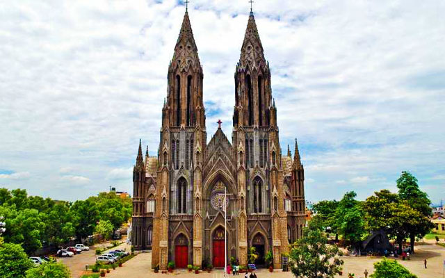 St. Philomena's church is a Catholic church constructed in 1936 using a Neo Gothic style and its architecture was inspired by the Cologne Cathedral in Germany.