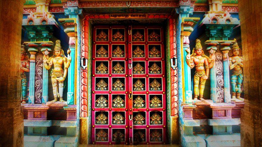 Front door of Srirangam Paramapadha Vaasal