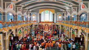 Inner view of Akkaraipatti Shirdi Sai Baba Temple near Samayapuram