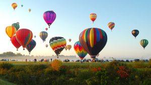 Colourful view of International Hot Air Araku Balloon Festival in Visakhapatnam