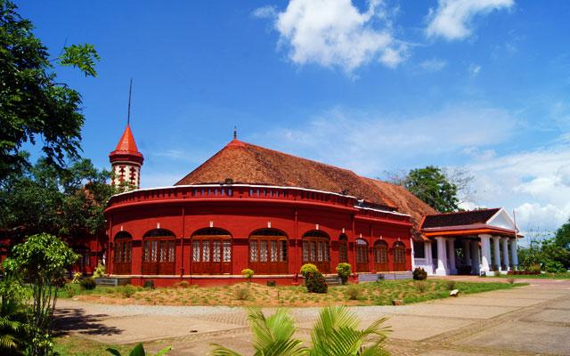 Facet of Kanakakkunnu Palace in Thiruvananthapuram, Kerala