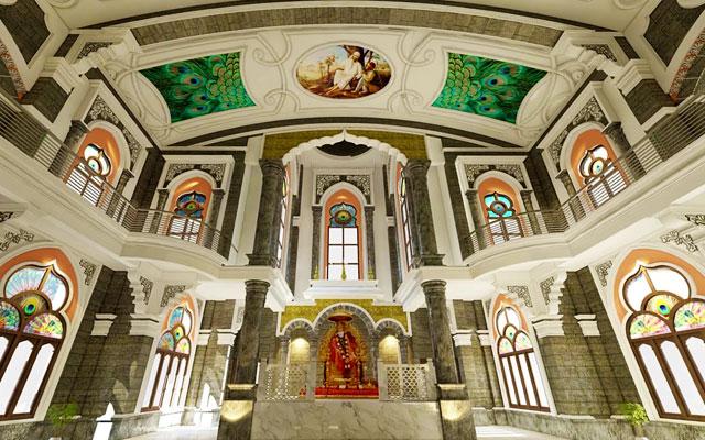Main hall of Akkaraipatti Shirdi Sai Baba Temple in Trichy