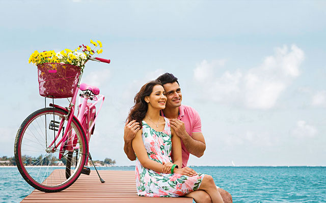 Young couples enjoying their Valentine's day in Andaman Islands