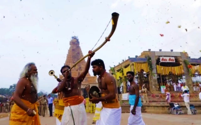 A glimpse of Thanjavur Big Temple grand consecration ceremony celebration