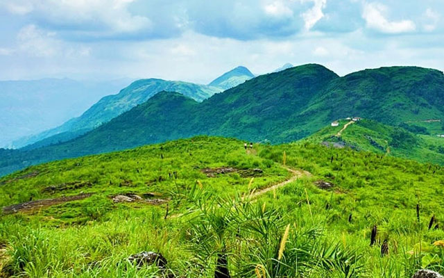 A beautiful view from ilaveezhapunchira in Kerala