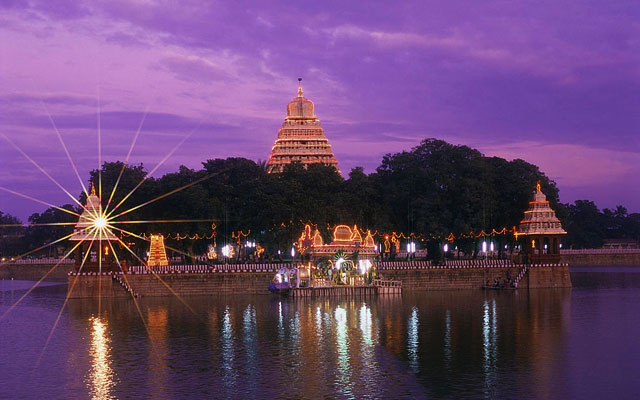 A glimpse of Madurai Float Festival