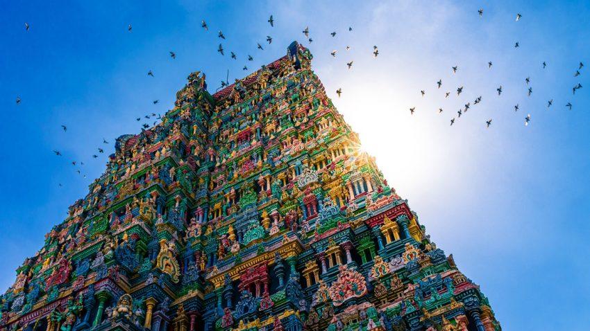 A beautiful view of Sri Meenakshi Temple in Madurai