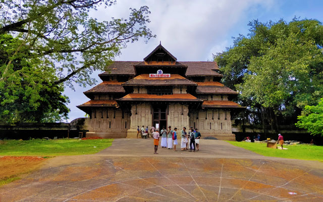 Front view of Vadakunnathan Temple in Thrissur, Kerala