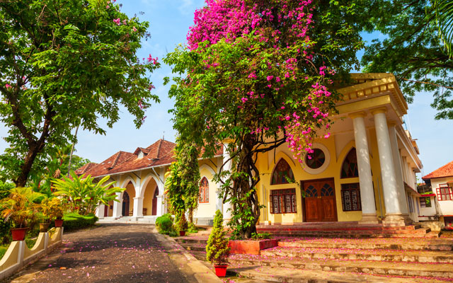Indo-Portuguese Museum or Bishop House is a museum in Fort Kochi, Kerala