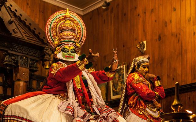 Kathakali performance in Kerala kathakali centre, Kochi