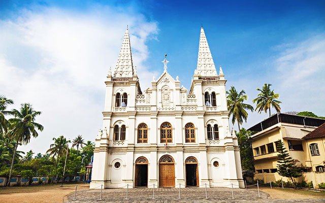 Santa Cruz Basilica in Cochin, Kerala, India