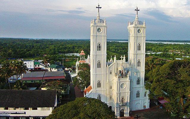 Vallarpadam Church in Vallarpadam Island, Kochi, Kerala