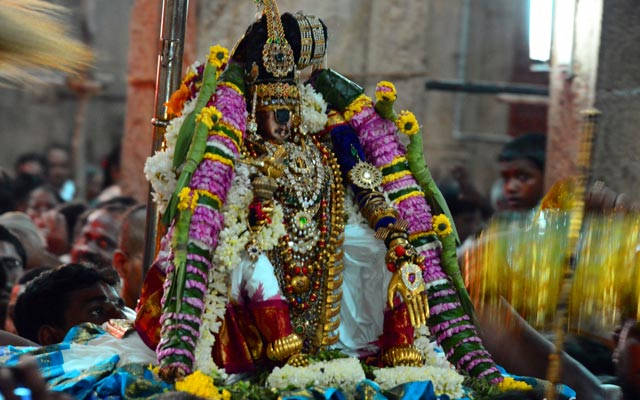 A glorious of Srirangam Sri Renganathaswamy in Mohini Alagaram