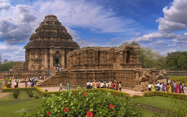 the general form of the ancient temple of the sun, Konark, Orissa, India